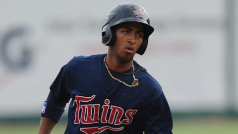 Eddie Rosario led the Rookie-level Appalachian League with 21 homers.
